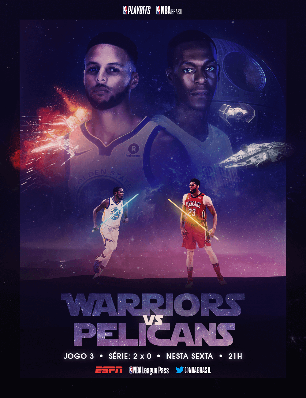 NBA-Especial-Playoffs-Star-Wars-Tunein-Warriors-Pelicans